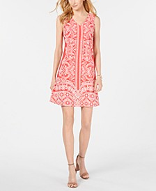 Petite Printed Shift Dress