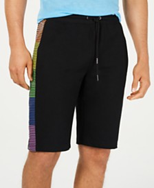 I.N.C. Men's Rainbow Stripe Shorts, Created for Macy's