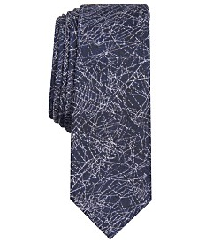 I.N.C. Men's Spider Webs Skinny Tie, Created for Macy's