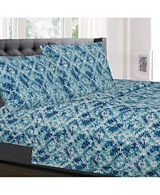 Sweet Home Collection Printed King 4-Pc Sheet Set