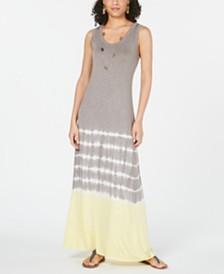 Style & Co Colorblocked Sleeveless Maxi Dress, Created for Macy's