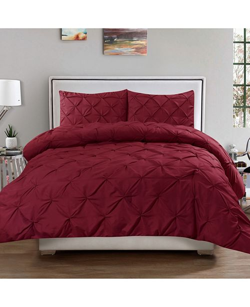 Sweet Home Collection Hudson Full/Queen 3-Pc Pinch Pintuck Comforter And Sham Set