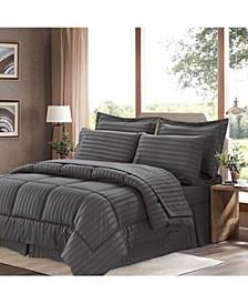 Dobby Embossed Queen 8-Pc Comforter Set