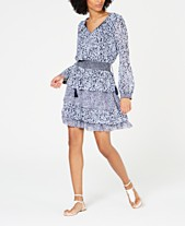 75f4bb7c MICHAEL Michael Kors Tiered Printed Dress, Regular & Petite