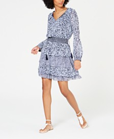 MICHAEL Michael Kors Tiered Printed Dress, Regular & Petite