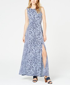 MICHAEL Michael Kors Mixed-Print Sleeveless Maxi Dress, In Regular and Petite