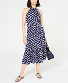 MICHAEL Michael Kors Printed Ruffled-Hem Dress, In Regular and Petite