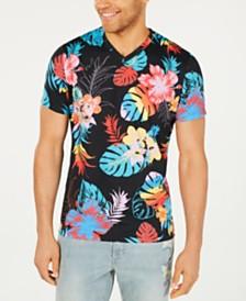 American Rag Men's V-Neck Foliage T-Shirt, Created for Macy's