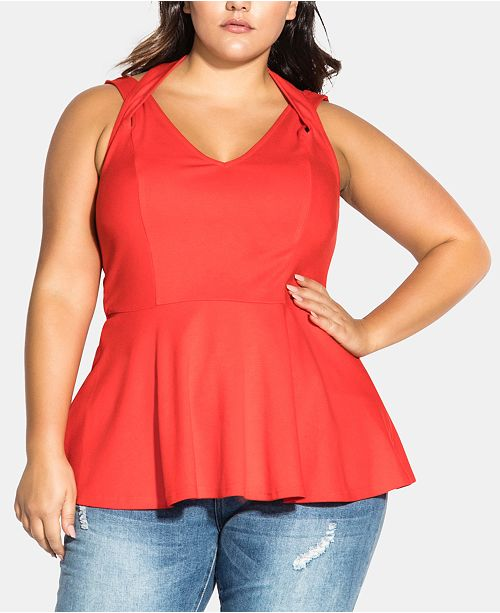 City Chic Trendy Plus Size Strappy Halter Top