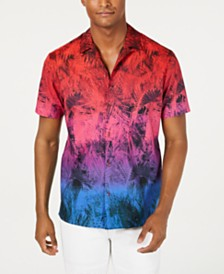 I.N.C. Men's Lorenzo Tropical Camp Shirt, Created for Macy's