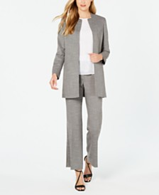 Calvin Klein Long Jacket, Sleeveless Blouse & Modern Pant