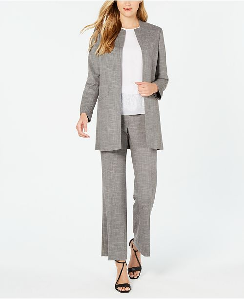 Calvin Klein Long Jacket, Sleeveless Blouse & Modern Pant