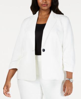 Kasper Womens Textured Striped Jacket