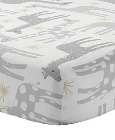 Lambs & Ivy Signature Moonbeams Giraffe and Stars 100% Cotton Baby Fitted Crib Sheet