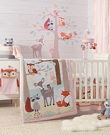 Lambs & Ivy Little Woodland Forest Nursery 4-Piece Baby Crib Bedding Set