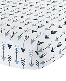Stay Arrow Print 100% Cotton Baby Fitted Crib Sheet