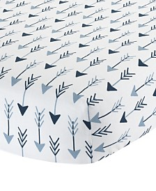 Lambs & Ivy Stay Arrow Print 100% Cotton Baby Fitted Crib Sheet