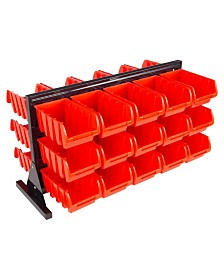 Trademark Global 30 Bin Storage Rack organizer - Two Sided Container with Removable Drawers by Stalwart