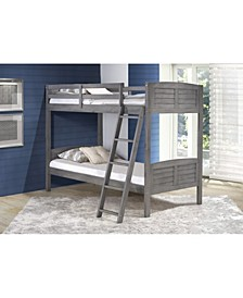 Twin Over Twin Louver Bunk Bed