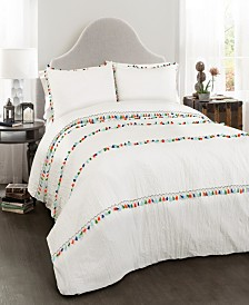 Boho Tassel 3-Pc. Full/Queen Comforter Set
