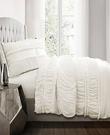 Nova Ruffle 3Pc King Comforter Set