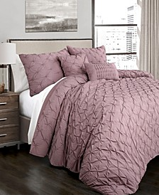 Ravello Pintuck 5-Piece Full/Queen Comforter Set