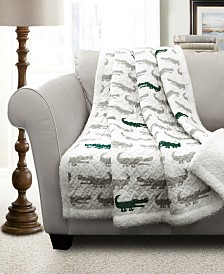 Alligator Sherpa Throw