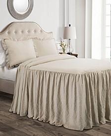 Ruffle Skirt 3-Piece Queen Bedspread Set