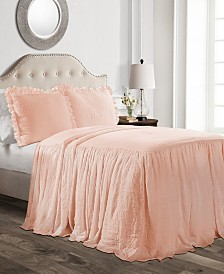 Ruffle Skirt 3-Pc. King Bedspread Set