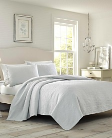 Laura Ashley Zinnia Grey Coverlet Set, Full/Queen