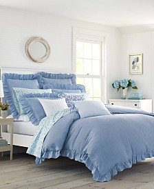 Laura Ashley Adley Blue Duvet Cover Set, Full/Queen