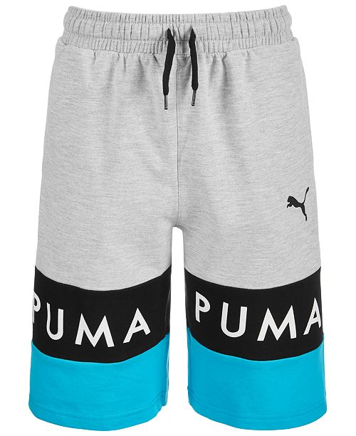 Puma Big Boys Colorblocked French Terry Shorts