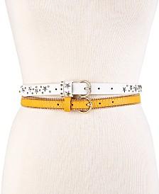 Steve Madden 2-Pk. Faux Leather Belts