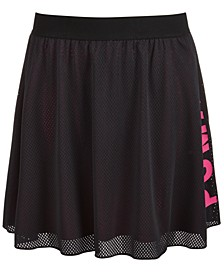 Big Girls Mesh Logo Skirt