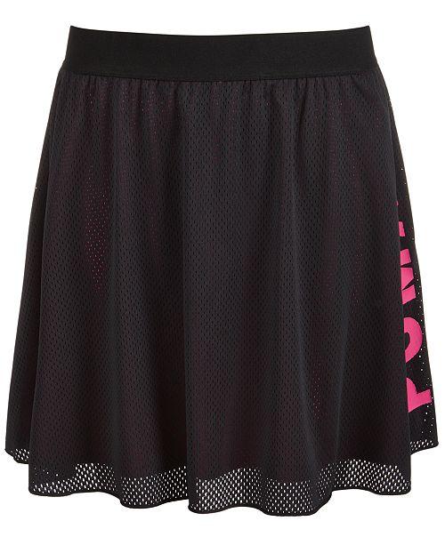 Puma Big Girls Mesh Logo Skirt