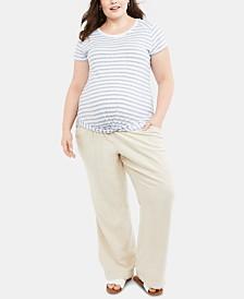 Motherhood Maternity Plus Size Wide-Leg Pants