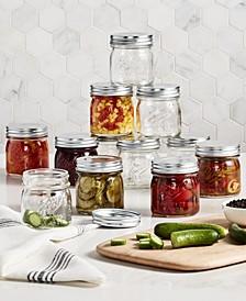 Set of 12 Vintage Half-Pint Jars