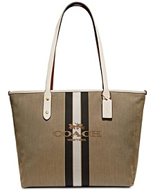 Horse & Carriage Jacquard City Tote