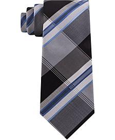 Kenneth Cole Men's Multi Texture Plaid Slim Tie