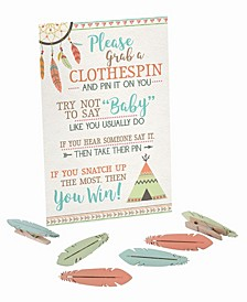 Boho Baby Shower Clothespin Game