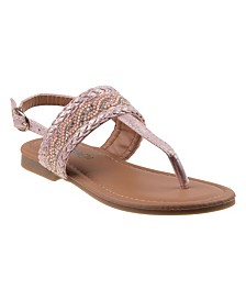 Kensie Girl's Every Step Thong Sandals