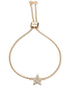 DKNY Gold-Tone Pavé Star Slider Bracelet