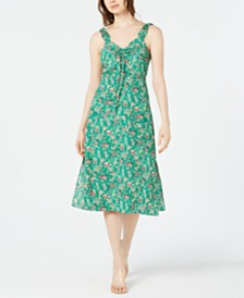 Lucy Paris Floral-Print A-Line Midi Dress