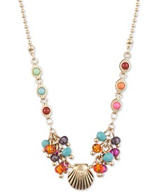 """lonna & lilly Gold-Tone Shell & Shaky Bead Pendant Necklace, 16"""" + 3"""" extender"""