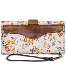 Valentia II Printed Leather Wristlet