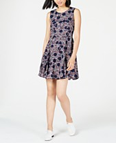 d530447645 Maison Jules Floral-Print Fit & Flare Dress, Created for Macy's