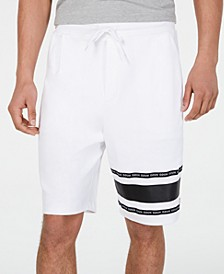 HUGO Men's Dorts Logo Stripe Fleece Shorts