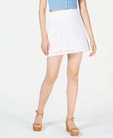 Maison Jules Eyelet Mini Skirt, Created for Macy's