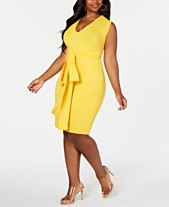 3cef938d3a1f Rebdolls Bodycon Tie Waist Midi Dress By The Workshop At Macy's, Regular &  Plus Sizes