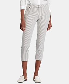 Lauren Ralph Lauren Petite Seersucker Skinny Pants